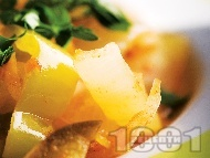 Рецепта Гарнитура от задушени зеленчуци (зелечни чушки, патладжани, моркови, лук) на тиган